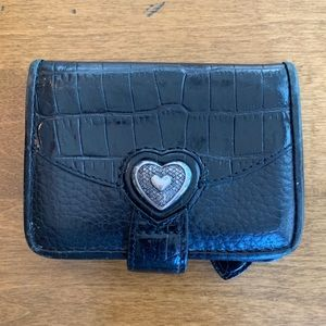 Brighton Black Mini Wallet.